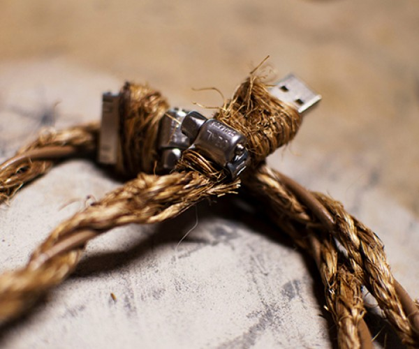 Manila Rope iOS Cable Wood Stand Out from Your Other Cables