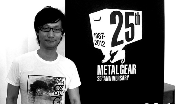 metal gear 25th anniversary logo with hideo kojima