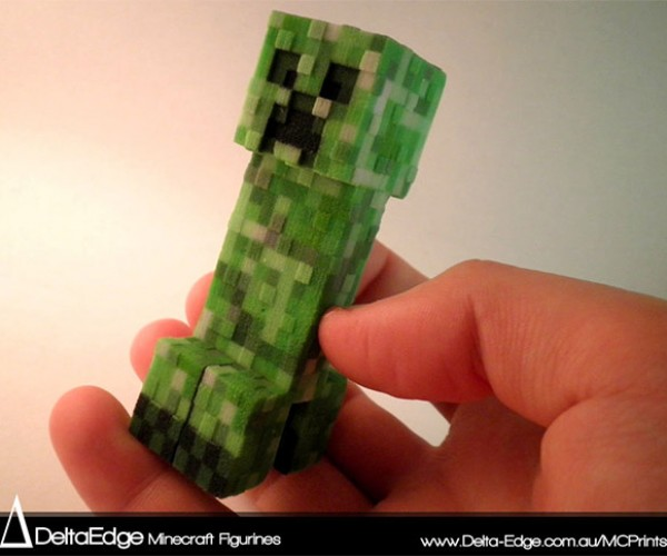 3D Printed Minecraft Figurines Bring the Game to Life