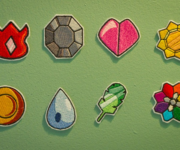 Embroidered Pokémon Kanto Gym Badges: Gotta Patch Em All
