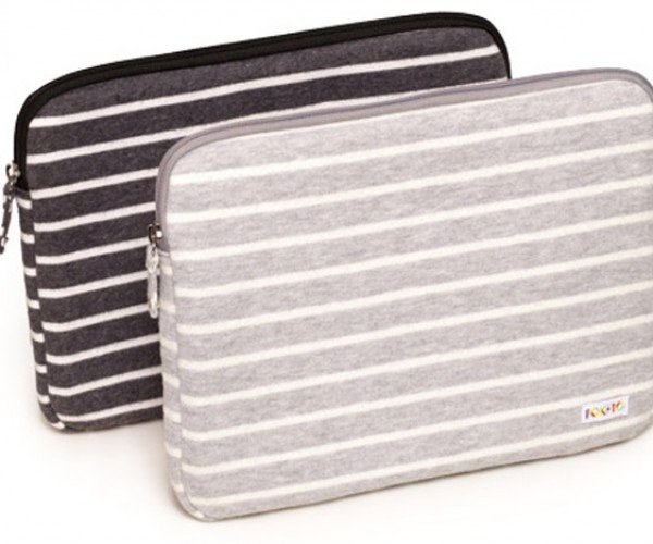Poketo Striped Fleece Case Looks Like a Cosy Home for Laptops