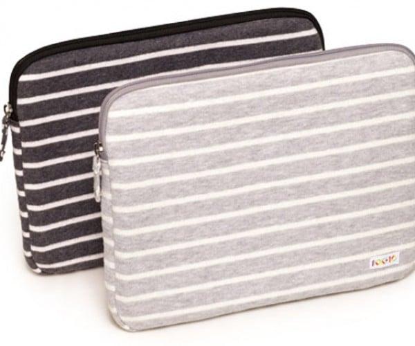 Poketo Striped Fleece Case Looks Like a Cosy Home for Laptops