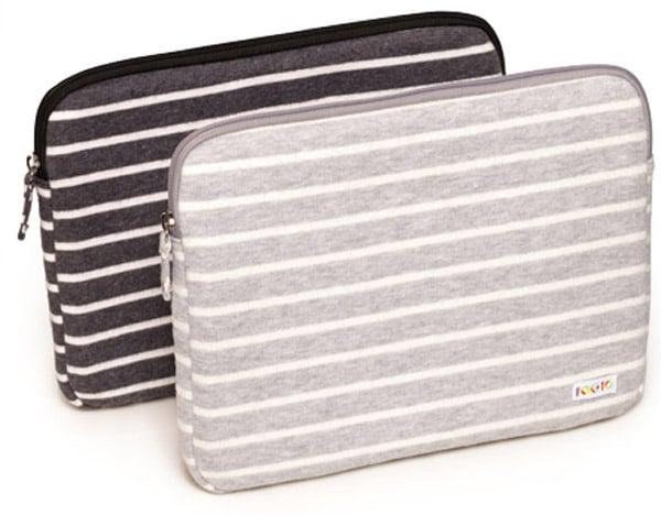 poketo striped fleece laptop case