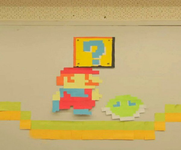 7,000 Sticky Notes Make up This Super Mario Stop-Motion Animation