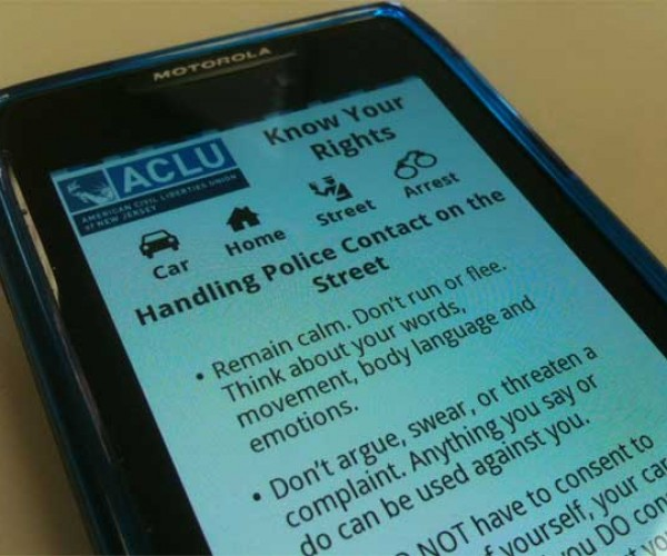 New Jersey ACLU Offers Police Recorder App