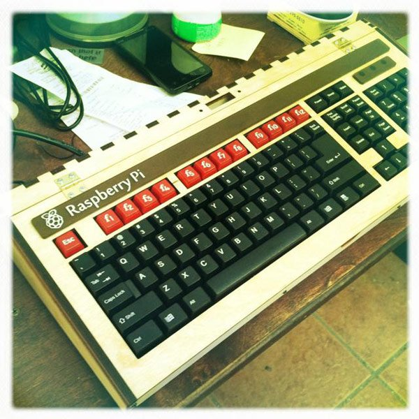 raspberry pi ben heck retro keyboard computer