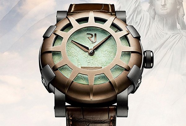 romain jerome liberty dna watch statue