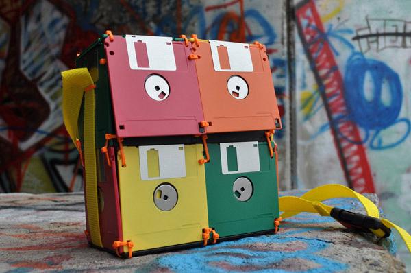 roxanne gibson geekki boutikki floppy disk bag