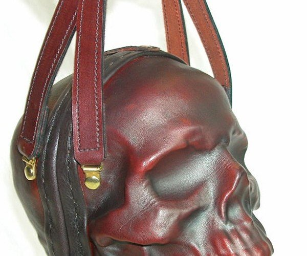 Human Skull Leather Purse is the Perfect Highlander Accessory