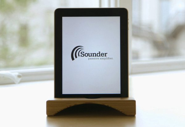 sounder natural ampflifier kickstarter audio ipad