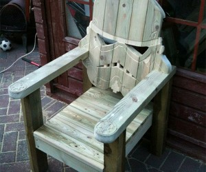 Stormtrooper Adirondack Chair Perfect for Lounging on the Death Star's Back Porch