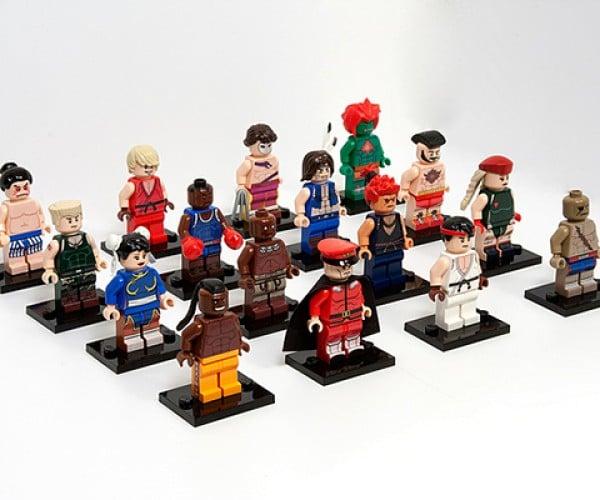 street fighter ii lego minifigure by julian fong