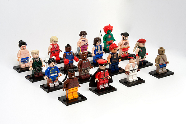 street fighter ii lego minifigure by julian fong