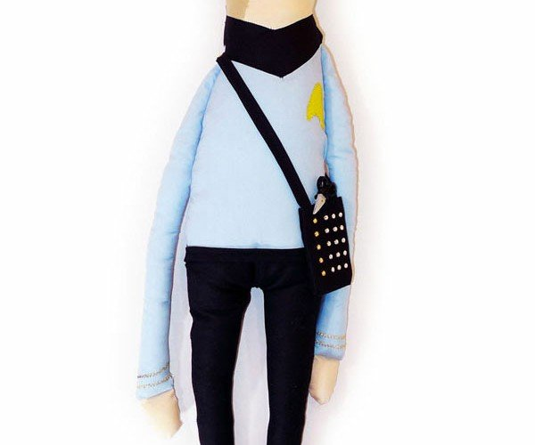 That's Sew Spock, a Cuddly Stuffed Vulcan