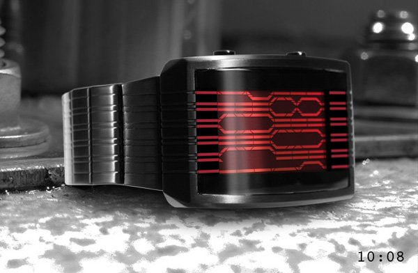 tokyoflash kisai online lcd watch black red
