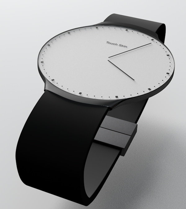 touch skin watch oled concept analog Touch Skin OLED Watch Concept Changes Faces on Demand