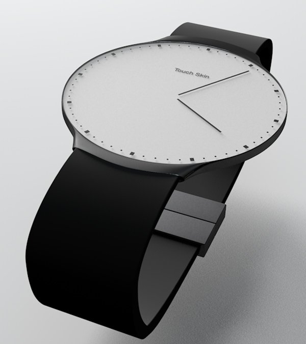touch skin watch oled concept bluetooth customize face