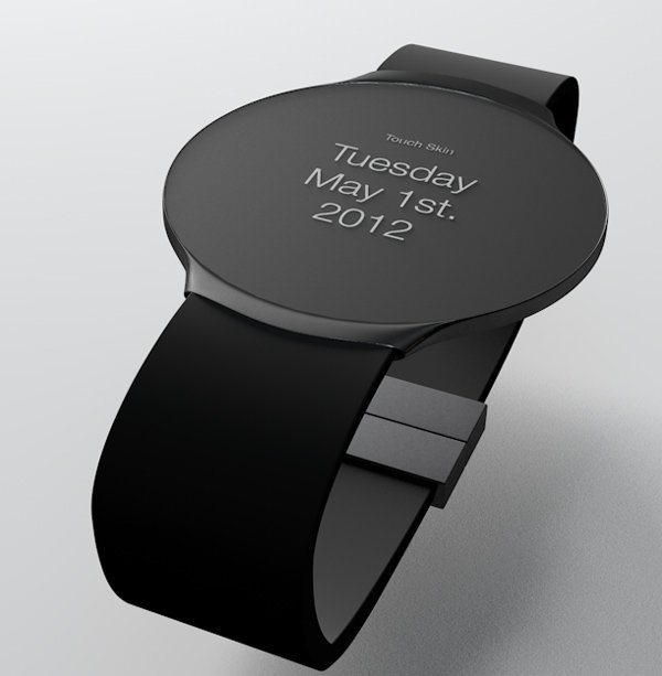 touch skin watch oled concept date Touch Skin OLED Watch Concept Changes Faces on Demand