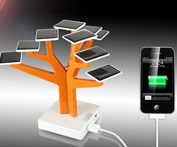 usb solar charger tree 2