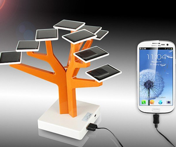 usb solar charger tree