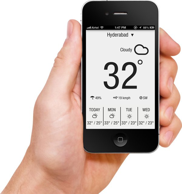 weather neue app ios hand
