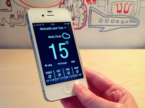 weather neue app ios iphone ipad minimal