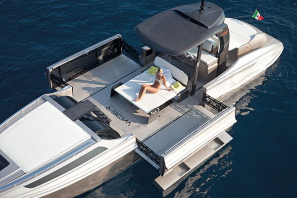 wider expandable yacht boat transformable sunbathing