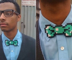 8-Bit Bow Tie Makes You a Dapper Player