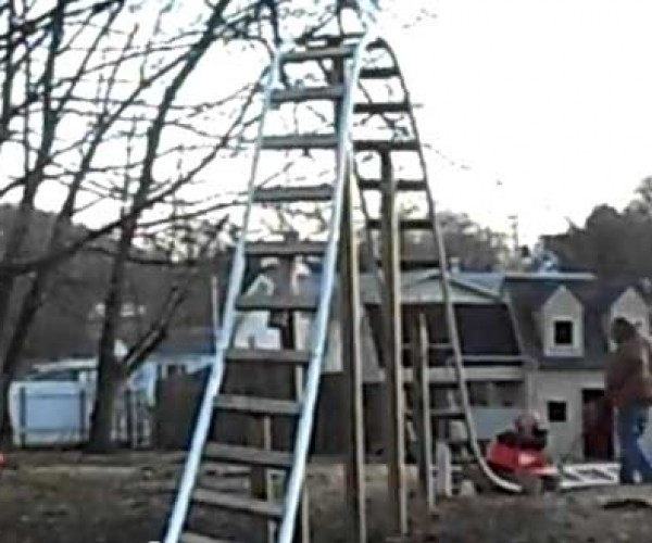 World's Coolest Dad (of the Week) Builds a Backyard Roller Coaster for His Daughter