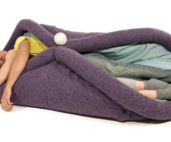 Blandito Convertible Sleeping Mat Turns You into a Human Burrito