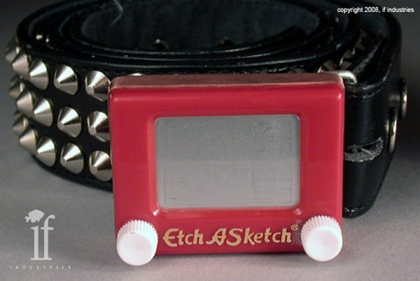 Etch-a-Sketch Belt Buckle