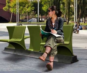 Flip Bench Offers You a Choice When it Comes to Public Seating Arrangements