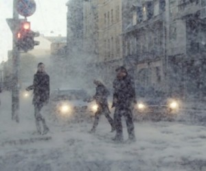 Guerilla Creative Collective 'Kut' Makes it Snow in Riga