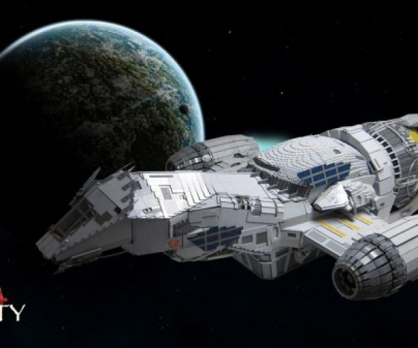Seven-Foot Long LEGO Model of Serenity Made of 70,000 Bricks