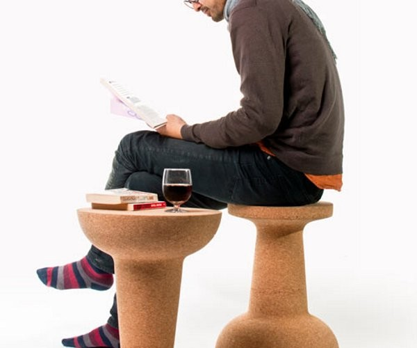 Giant Cork Pushpin Works as a Table or a Chair, But Not as a Pushpin