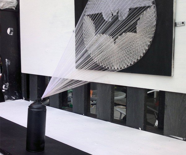 Bat-Signal String Art Calls the Dark Knight with Craft
