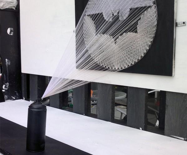 Bat-Signal String Art Calls the Dark Knight with Craft