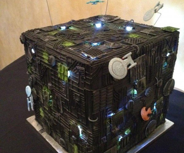Singleness is Futile with this Borg Cube Wedding Cake