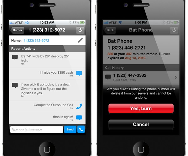 Burner iOS App Provides Disposable Phone Numbers: Phoneception