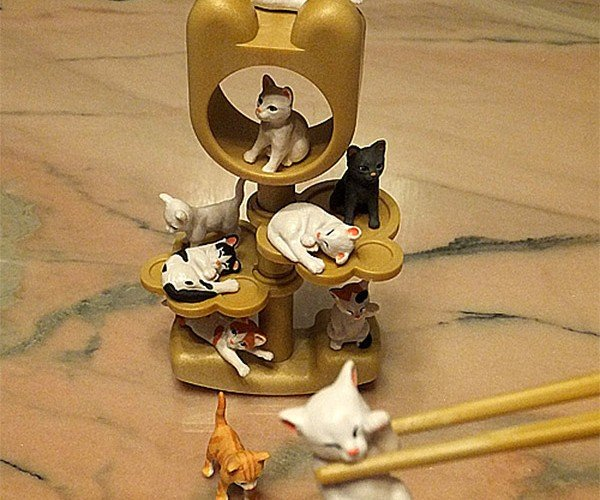 Let's Pick up Tiny Cats with Chopsticks!