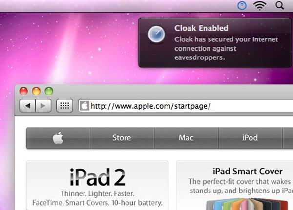 cloak vpn app ios osx private browsing enabled