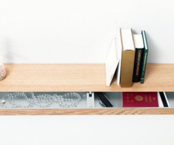 Clopen Shelf Hides Away Valuables on the Inside