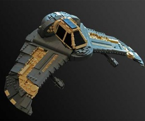 Stargate SG-1 Death Glider Made from LEGO