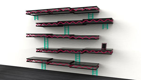 Donkey Kong Wall Shelf Needs Barrel Bookends Technabob