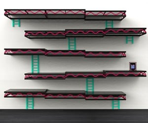 Donkey Kong Wall Shelf Needs Barrel Bookends