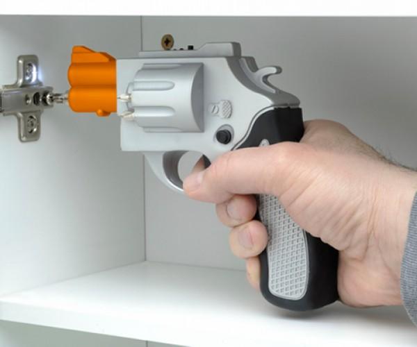Drill Gun Screwdriver Bangs Bolts In