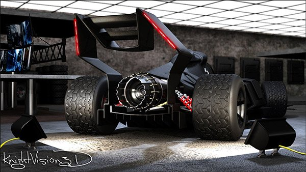 f1 batmobile back