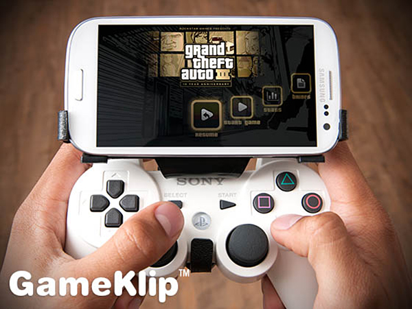 gameklip android ps3 dualshock mount