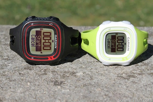 garmin forerunner 10 gps watch side