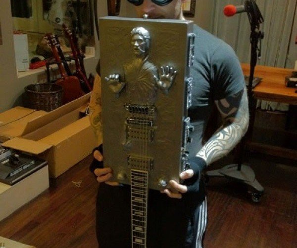 Han Solo Frozen in Carbonite Guitar Rocks